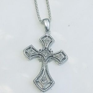 Jewelry - diamond necklace With Silver Chain